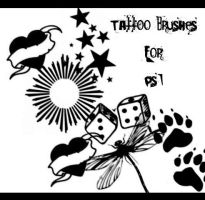 Temp Tattoo Brushes by d00bie