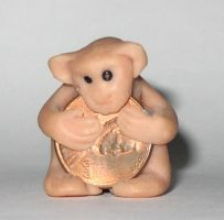 Sculpey Monkey with Penny by bumblefly