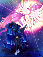 MLP | Luna's Jealousy [Commissions OPEN!] by xKittyblue