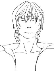 Light Yagami line art by niaskywalk