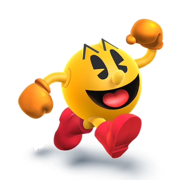 Pac-Man Alt. Position (Sm4sh) by SmashWaffle
