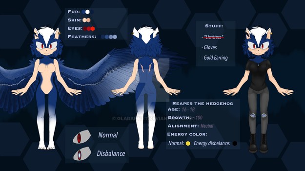 Reaper The Hedgehog Body Reference by Gladartist