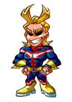 Chibi! AllMight by Selebushka