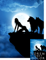 Wolfgirl on the Prowl Premade Book Cover by Viergacht