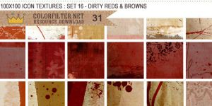 Icon Textures Set 16 - Dirty Reds + Browns by colorfilter