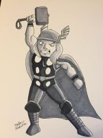 Inktober 2017 - Day 15 - Thor by NoDiceMike