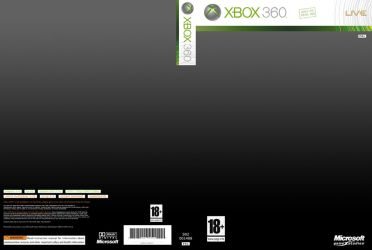 XBOX 360 cover template 600dpi by BlotarenSS