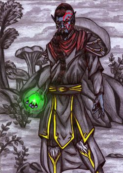 Morrowind mage by Zombilein