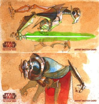 Double Grievous Widevision by markmchaley