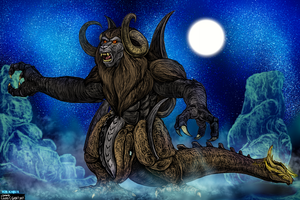 Bakan - Monkey God Beast Form for KaijuX by LucasCGabetArts