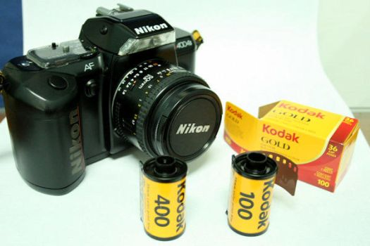 Nikon SLR with 50mm lens by pedoy76