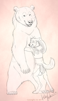Valentines bearhug by Bear-hybrid