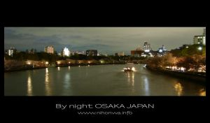 Osaka by night -1- by Lou-NihonWa