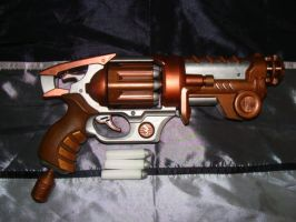 Steampunk painted dart gun - Clear-X Rotator X-8 by TtheD