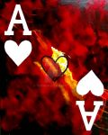 POKER ART GALAXY HEARTS