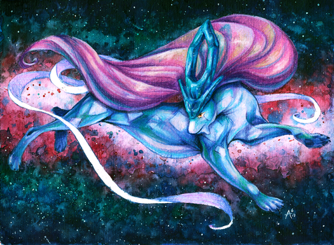 Gotta Draw 'em All: #245 SUICUNE (Video+GIVEAWAY) by ARVEN92