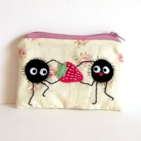 Strawberry soot pouch by yael360