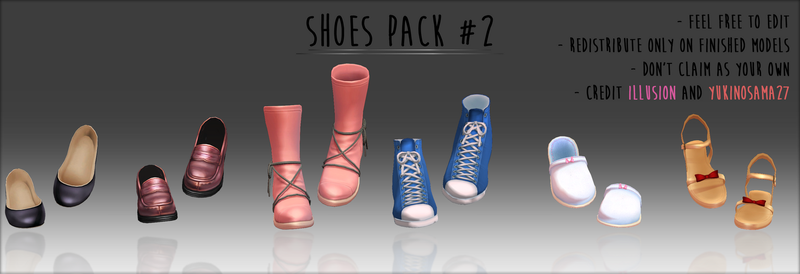 Shoes pack #2 - DOWNLOAD - by YukinoSama27