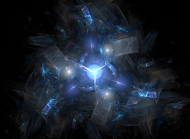 Blue Spiral Fractal by PMcB