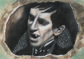 Barnabas Collins in 1897 ready to fang Charity! by MatildaWoodhouse