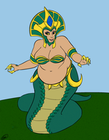 Chubby Lamia by overlordofnobodies
