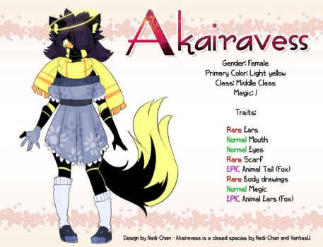 [CLOSED][OTA] Akairavess Adopt by Nadi-Chan