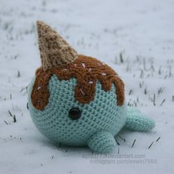 Ice Cream Narwhal by aphid777