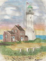 Scituate Lighthouse by melissa-chan815