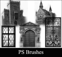 Castle brushes by Lileya
