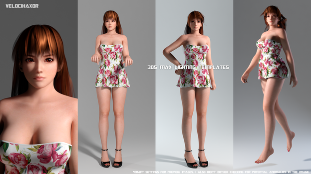Lighting Templates for 3ds Max(MR) feat. Kasumi by Velocihaxor