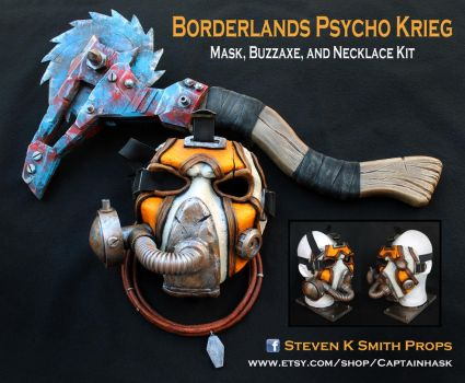 Borderlands Krieg Cosplay Mask Buzzaxe kit by SKSProps