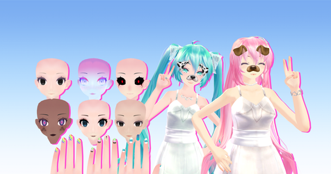Huge TDA Face Texture pack by Sugatsunee