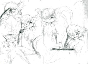 Mehitabel sketches by Progamuffin