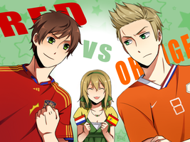 APH: Red vs Orange by HaruMaru-Shi
