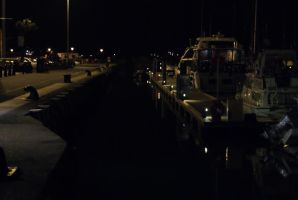 Yachtes Parked on the Quay at Night by wafitz