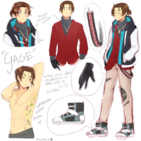 [OC] Gage Ref Sheet by Riccasze