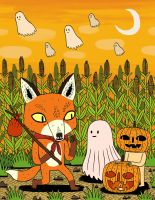The Fox and the Pumpkin by Teagle