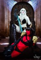 Lady Death and Purgatiori Cosplay by NerdySiren
