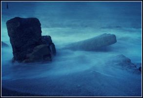 Water over the rocks. by chivt800