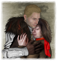 Art Trade -  Cullen and Corinne by LadyMintLeaf