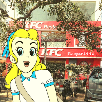 Sally at the KFC Restaurant by Rapper1996