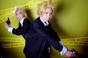 WARNING! Twin Police by seseostara