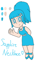 Sapphire Necklace Ref Colors by OscarK9