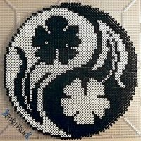 Floral Yin and Yang by PerlerPixie