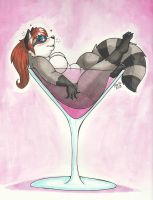 Raccoon Martini by PudgeyRedFox