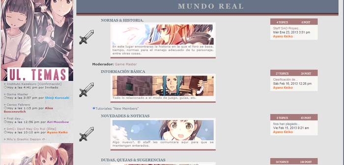 Sword Art Online Proyect! {Foro Rol} by Milushake
