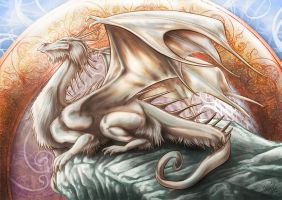 Dragon-mucha by psychee-ange
