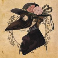 victorian plague doctor by taybabatool