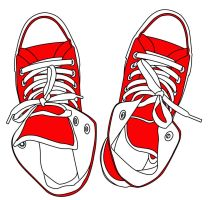 Red Converse Vector by squiffythewombat