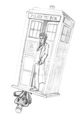 A Spider in the TARDIS by InkBurstStudios